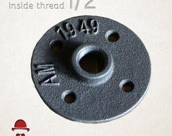 1/2 inch floor flange industrial steampunk rustic diy