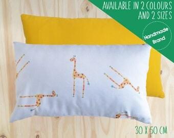 Giraffe Cushion, Children's Cushion, Baby Cushion, Animal Cushion, Jungle Cushion, Safari Cushion, Giraffe Pillow, Nursery Cushion, Yellow