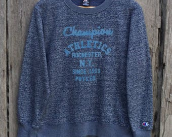 Rare champion Embroidery  spell out big logo sweatshirt