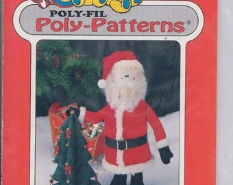 """Fairfield Poly - Fil Poly - Patterns """"Santa with Tree"""" D-211"""