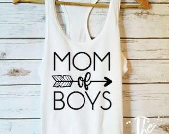 Mom Of Boys Shirt / Boy Mom Gift / Mom Shirts /Mom Gift Idea / Funny Mom Shirts / Cute Mom Shirt / Mom Tops /