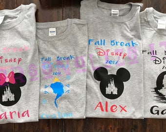 Personalized Disney Inspired tshirts / Matching / family / kids or adults / any occasion.
