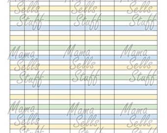 Printable Period Tracker Health Planner Page Letter Size Color Rainbow Black and White Discbound Happy Plan Circa TUL ARC Erin Condren MAMBI
