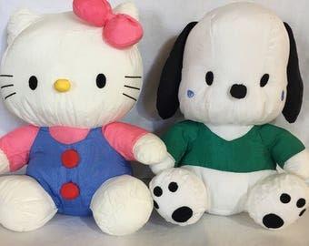 1996 Sanrio Hello Kitty, and Pochacco Puffalumps
