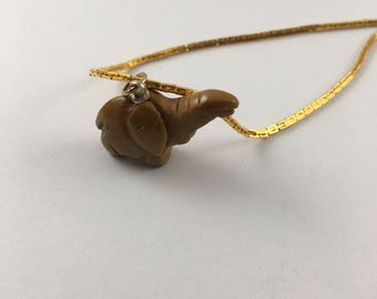 Small Elephant Charm Necklace