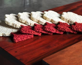 Hand made tree shaped Coir place Mat