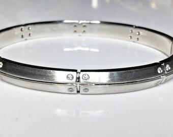 Estate Tiffany & Co. 18K White Gold 0.50 CTW Diamond Bracelet 36.3 Grams
