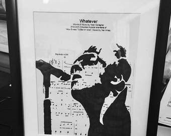 Oasis sheet music art