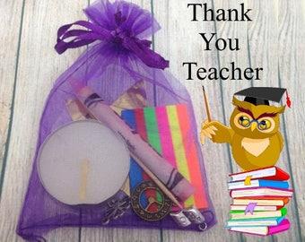 Teacher Gift, Thank You Survival Kit, Thank You Teacher,  Teacher Survival Kit, Teacher Appreciation, Personalised Gift, Keepsake Gift,