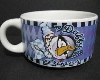 Vintage Daffy Duck Diner Soup Coffee Mug, Warner Brothers Collectble Mug, Looney Tunes Mug