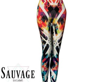 Trippy Leggings for the wild ones • yoga class and sunday brunch approved • handmade in Montreal - XS to XL