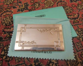 TIFFANY STERLING Card Case