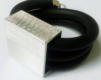 Bracelets caoutchouc aluminum handmade, unique