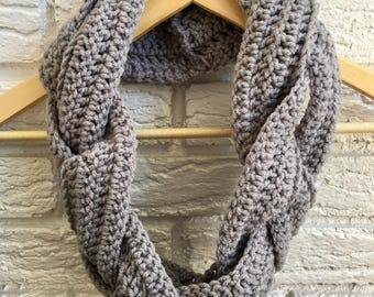 Braided Infinity Cowl Scarf