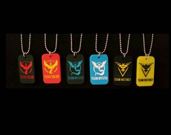 Pokemon Go Team Sensory Necklaces. Mystic-Instinct-Valor Stress and anxiety relief-sensory stimualtion-stimming jewellery