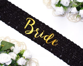 Bride Sash. Bridal Sash. Bachelorette Party. Bride Lace Sash. Bridal Lace Sash. Bridal Party Sash. Wedding Sash. Birthday Sash. Bride Gift