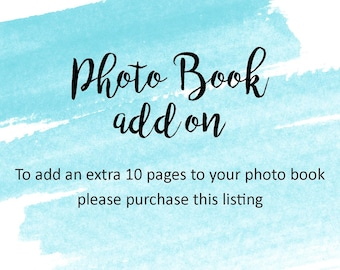 Photo Book / Guest Book - 10 Extra Pages Add On