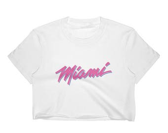 currentmood Women's Crop Top with MIAMI printed graphic