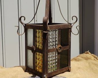 Vintage French Hanging Light Chandelier Lantern