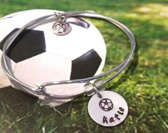 Soccer Bracelet, Soccer Team Jewelry,Team Charm Bracelet, Sport Jewelry, Team Bracelet, Coach Gift