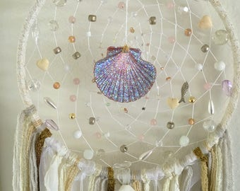 Shimmer Sea Shell Dream Catcher