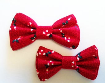 Bow Tie, Dad and Son Bow Ties, Christmas Bow Tie, Mens Bow Tie, Bowtie, Father Son Bow Ties, Boys Bow Tie, Candy Cane,Bowtie, Bow Tie  DS742