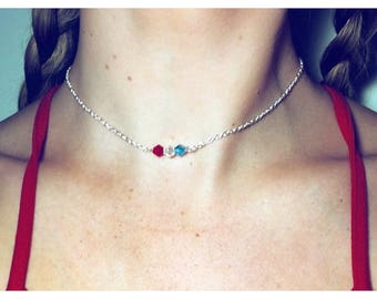 Individual Red White and Blue Chain Choker - 4th of July