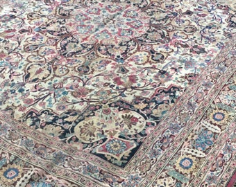 10x12 Antique Persian Rug - Tabriz