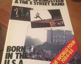 Bruce Springsteen & The E Street Band Born in the USA World Tour Program 1984-5