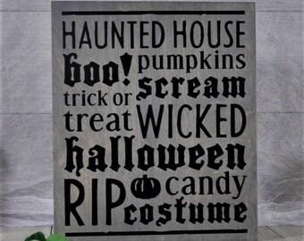 Halloween Decorations,Halloween Sign,Wood Sign,Halloween Decor, Home Decor,Halloween,