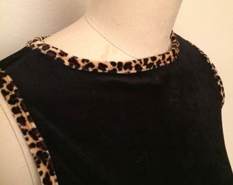 90s cheetah bodycon mini dress