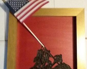 Iwo Jima Memorial desktop art