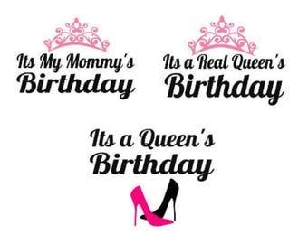 Birthday Queen, Birthday Girl, Digital download