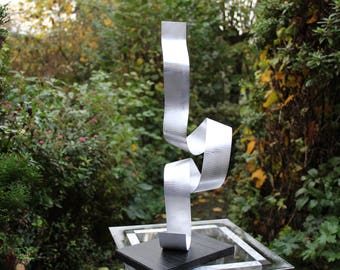 "Modern large abstract aluminum metal sculpture Art unique ""Doo"" 48 cm contemporary metal art sculpture Abstract"