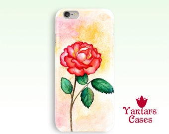 Peony iphone 6 case Flower iphone 7 case iphone 7 Plus case Floral iphone 5 case iphone 8 Watercolor peony iphone case Cell phone case peony