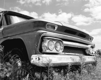 Black and White 1963 Chevy