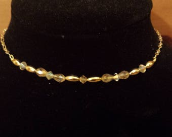 The Cheerful at Coit Tower (Gold Choker w/Crystals)
