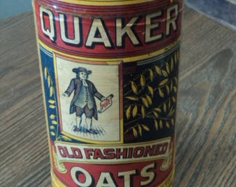 Vintage Quaker Oats Can Replica Ad of 1894