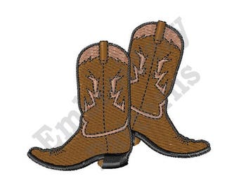 Cowboy Boots - Machine Embroidery Design