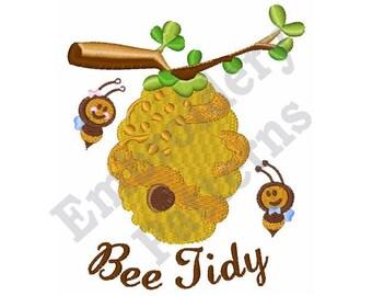 Bee Tidy Hive - Machine Embroidery Design