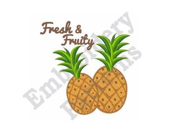 Fresh & Fruity Pineapple - Machine Embroidery Design