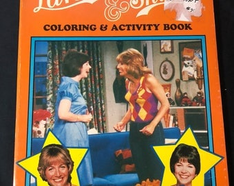 1983 Laverne & Shirley Coloring and Activity Book