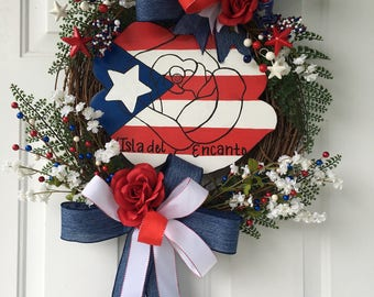 Puerto rican flag etsy for Puerto rico home decorations