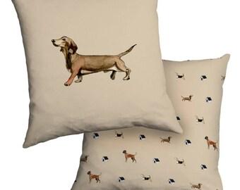 Sausage Dog Cushion, Fibre filled