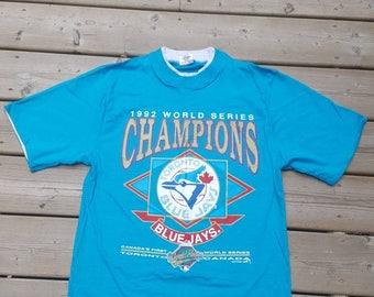 Toronto Blue Jays 1992 World Series Champions Vintage Tshirt Mens Size Small MLB 6ix Tdot