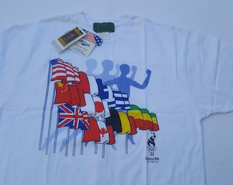 1996 Atlanta Summer Olympic Games Vintage Tshirt Tee XL Brand New Tags Deadstock