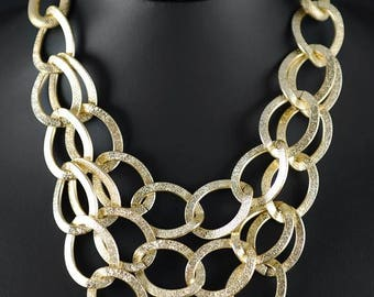 Necklace alloy chains, gold or silver color