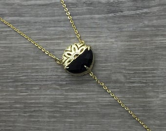 Lariat Y necklace, Y necklace, Gold Y Necklace, Girl friend gift, Minimal necklace, Lariat choker, Dainty Y Necklace, Dainty layering