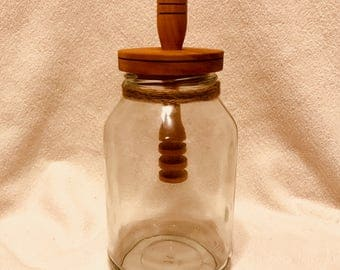 Mason Jar Honey Pot
