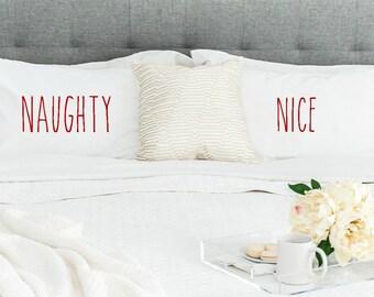 Christmas Edition Naughty & Nice Standard/Queen Size Pillowcase Set